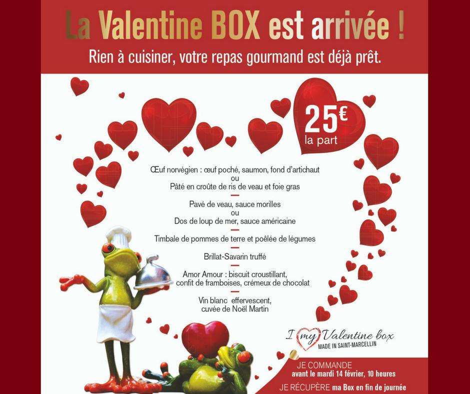valentine box repas gourmand pour la saint valentin la. Black Bedroom Furniture Sets. Home Design Ideas